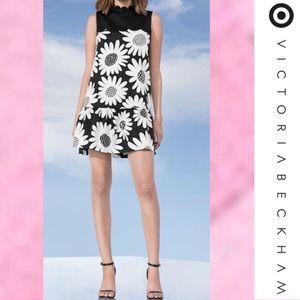 NEW VICTORIA BECKHAM Target Black Daisy Dress